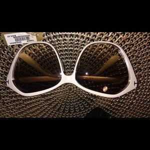 Authentic Tom Ford white sunglasses